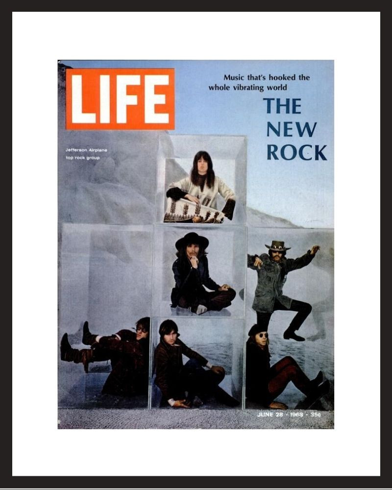 LIFE Magazine - Framed Historic Cover - Jefferson Airplane in 1968