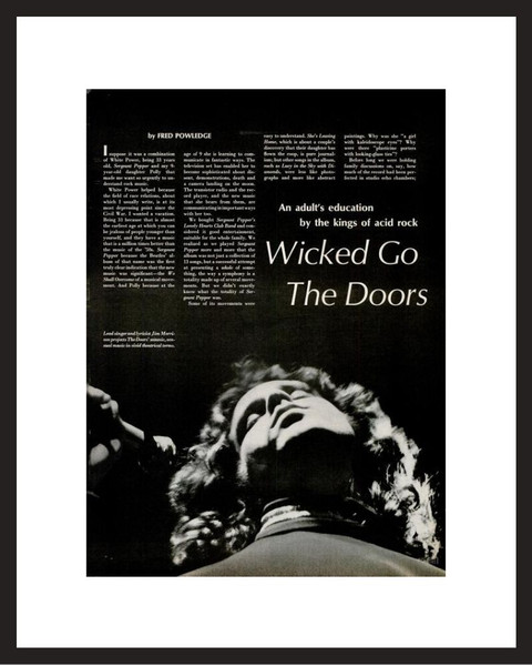 LIFE Magazine - Framed Historic Photograph - Jim Morrison of The Doors