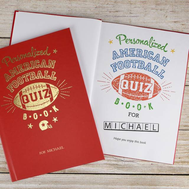 Personalized NFL Quiz Book