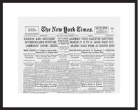 New York Times - Framed Historic Reprint - 1947 UN Partition Vote