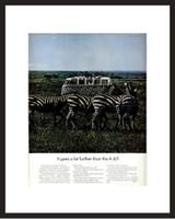 LIFE Magazine - Framed Original Ad - 1967 VW Bus