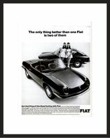 LIFE Magazine - Framed Original Ad - 1967 Fiat Ad