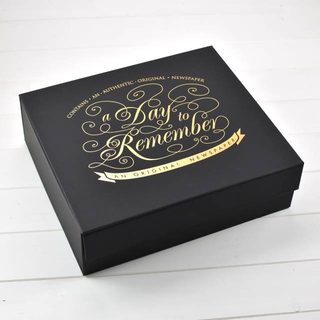 Elegant Black Keepsake Case