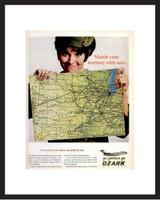 LIFE Magazine - Framed Original Ad - 1967 Ozark Airlines Ad