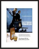 LIFE Magazine - Framed Original Ad - 1967 Old Crow Traveler Bottle Ad