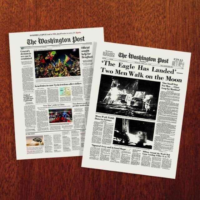 Washington Post Front Page Newspaper Poster