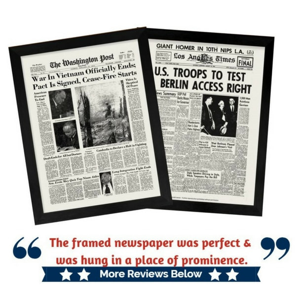 Framed Washington Post and LA Times