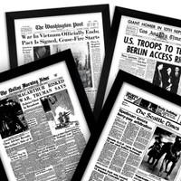 framed newspaper