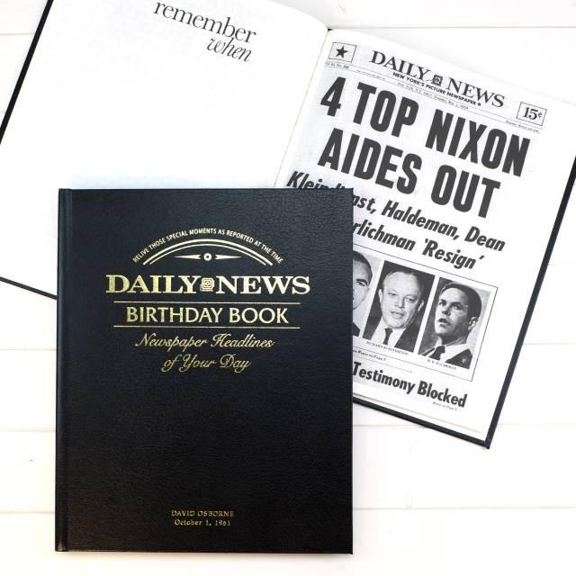 New York Daily News Birthday Newspaper Book