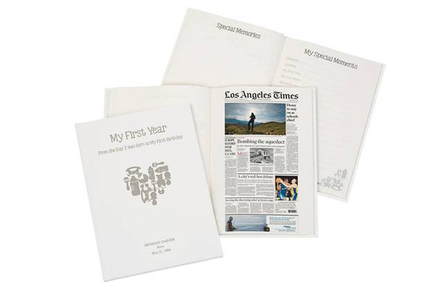 LA Times Baby Memory Book