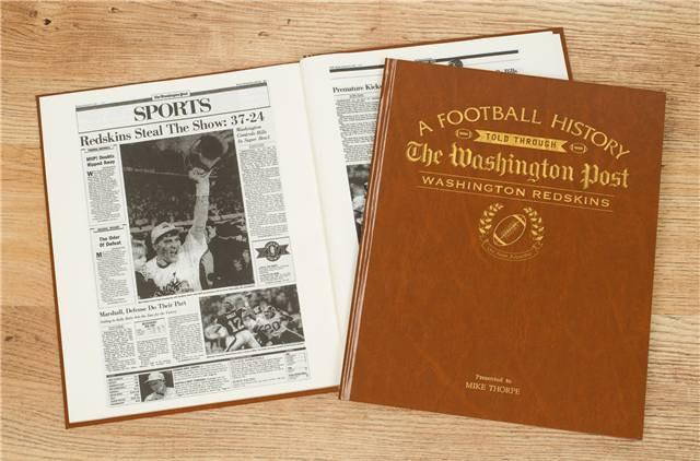 Redskins Fan - Personalized Team Book