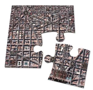 Aerial Map Coasters (Puzzle Pieces)