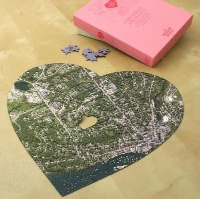 Heart Shaped Aerial Map