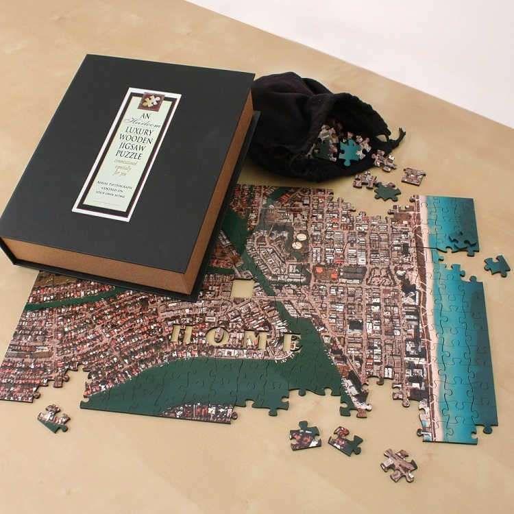 Aerial Map - Premium Edition w/ Wooden Edition