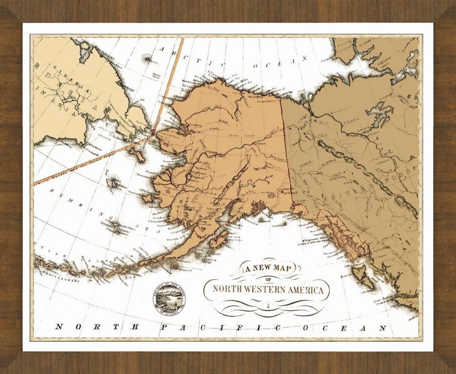 Old Map of Alaska