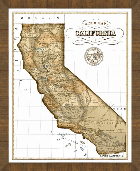 Old Map of California