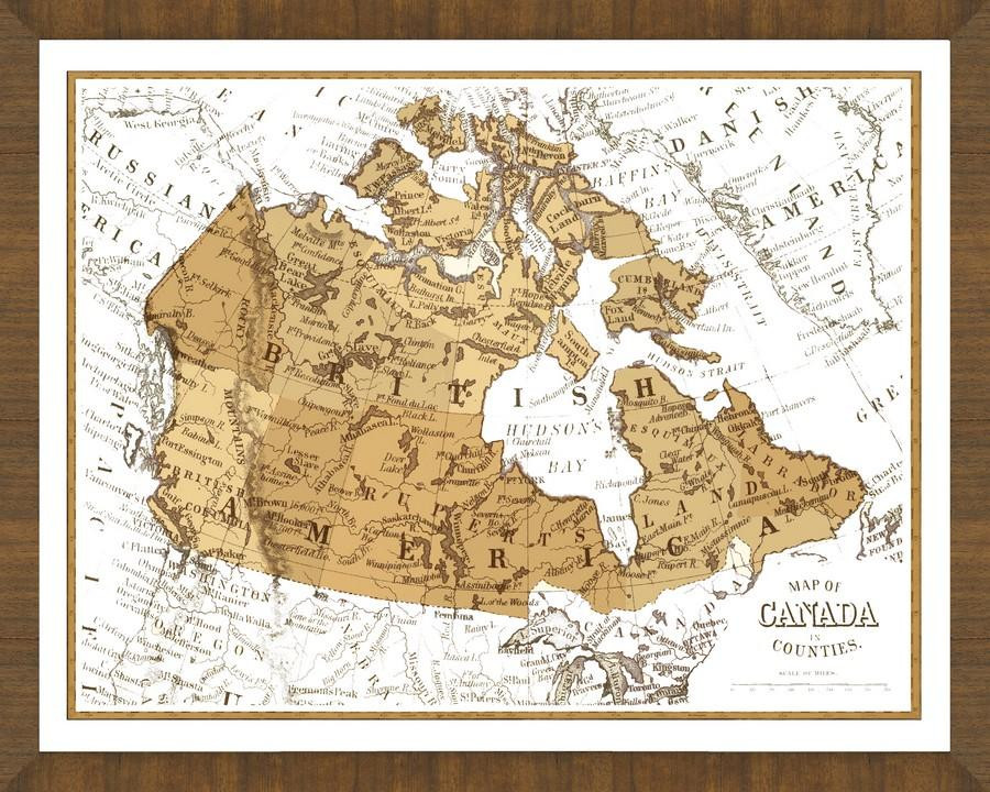 Country Of Canada Map.Old Map Of Canada