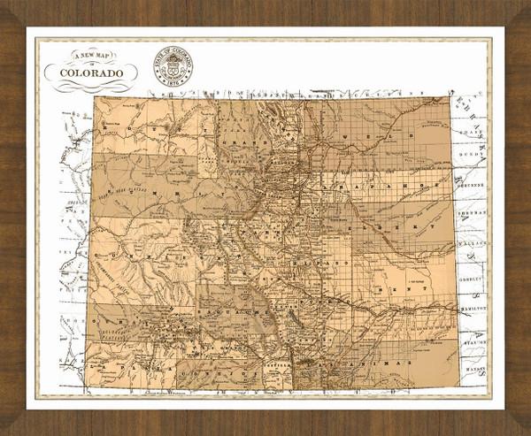 Old Map of Colorado