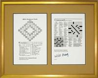 Crossword Puzzles Framed Art