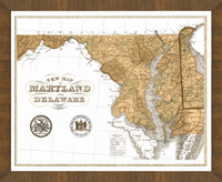 Old Map of Delaware