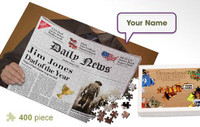 Father's Day Newspaper Personalized Jigsaw Puzzle