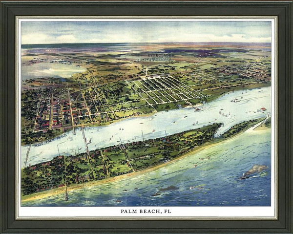Old Map of Palm Beach