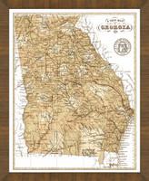 Old Map of Georgia