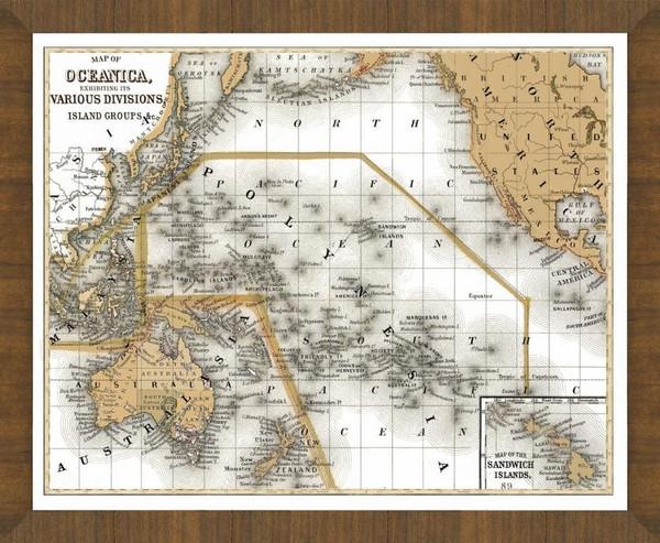 Old Map of Hawaii