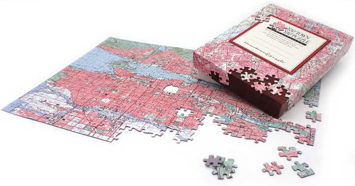 Canadian Hometown Map Puzzle