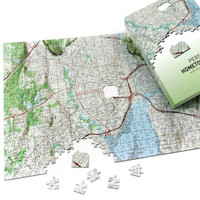 Hometown USA Puzzle - Centered on Your Address