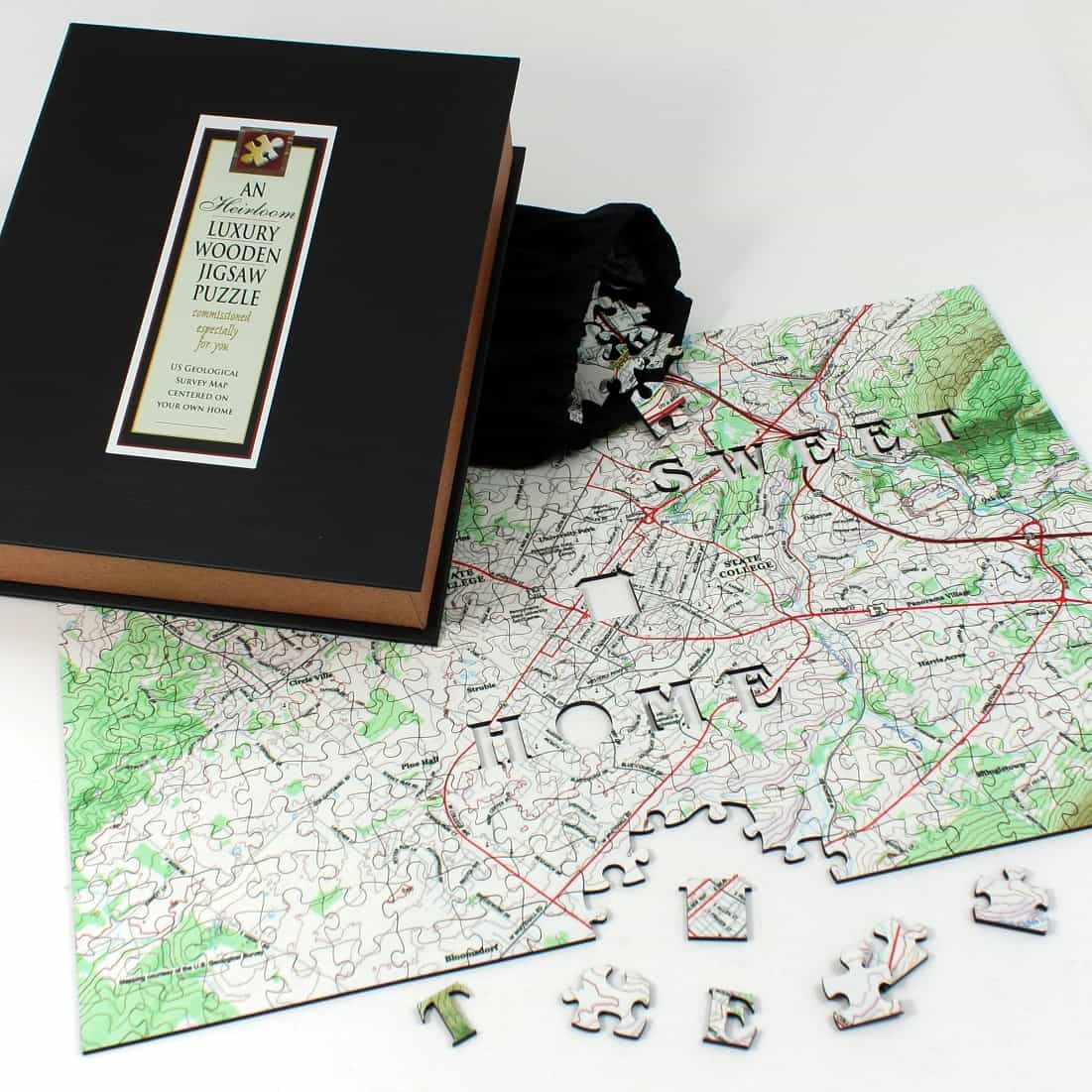 Hometown Map Puzzle - Premium Wooden Edition