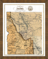 Old Map of Idaho