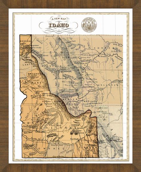 Old Map of Idaho