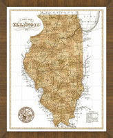 Old Map of Illinois