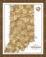 Old Map of Indiana