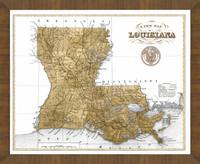 Old Map of Louisiana
