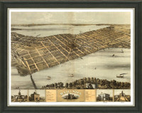Old Map of Madison