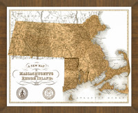 Old Map of Massachusetts