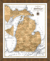 Old Map of Michigan