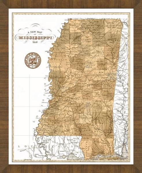 Old Map of Mississippi