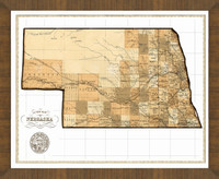 Old Map of Nebraska
