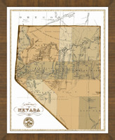 Old Map of Nevada