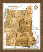 Old Map of New Hampshire
