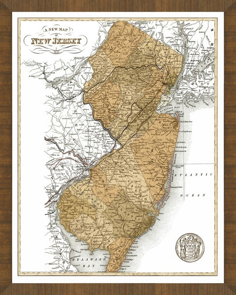 Old Map of New Jersey