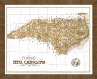 Old Map of North Carolina