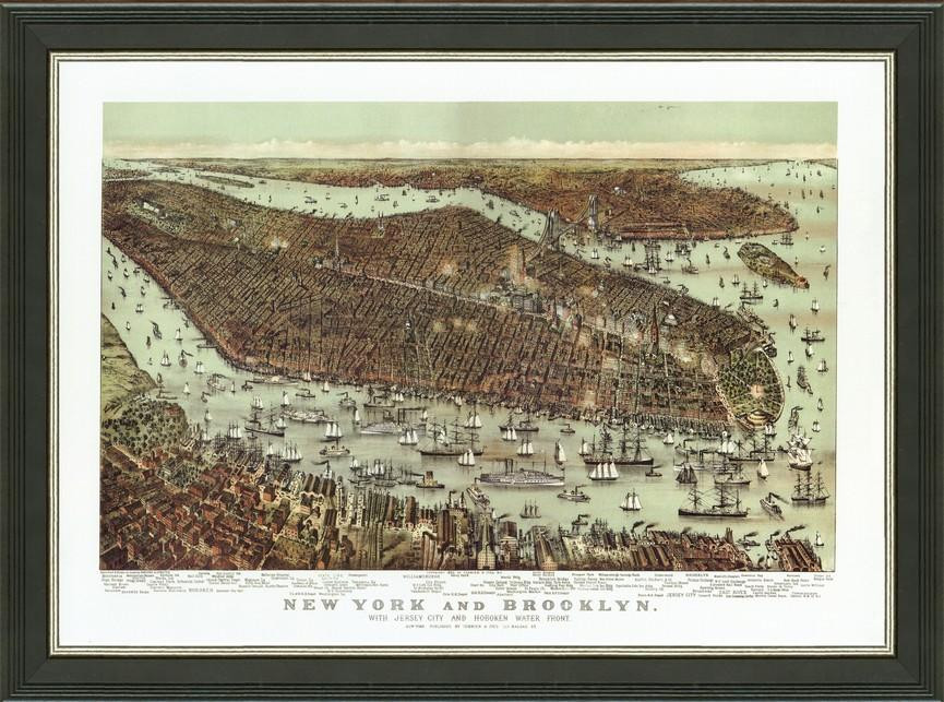 Old Map Of New York.Old Map Of New York City