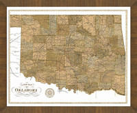 Old Map of Oklahoma