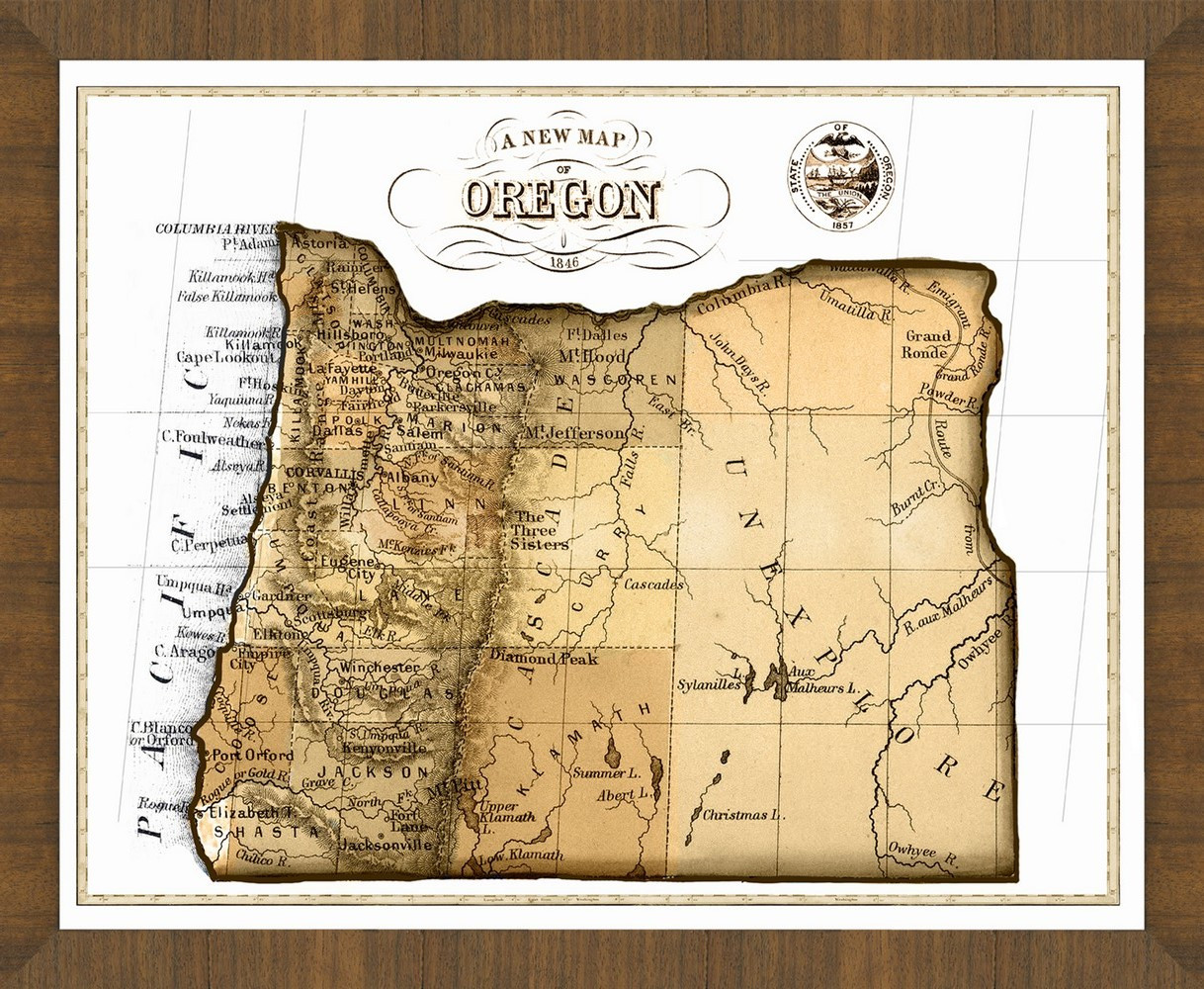 Oregon Map Image.Old Map Of Oregon A Great Framed Map That S Ready To Hang