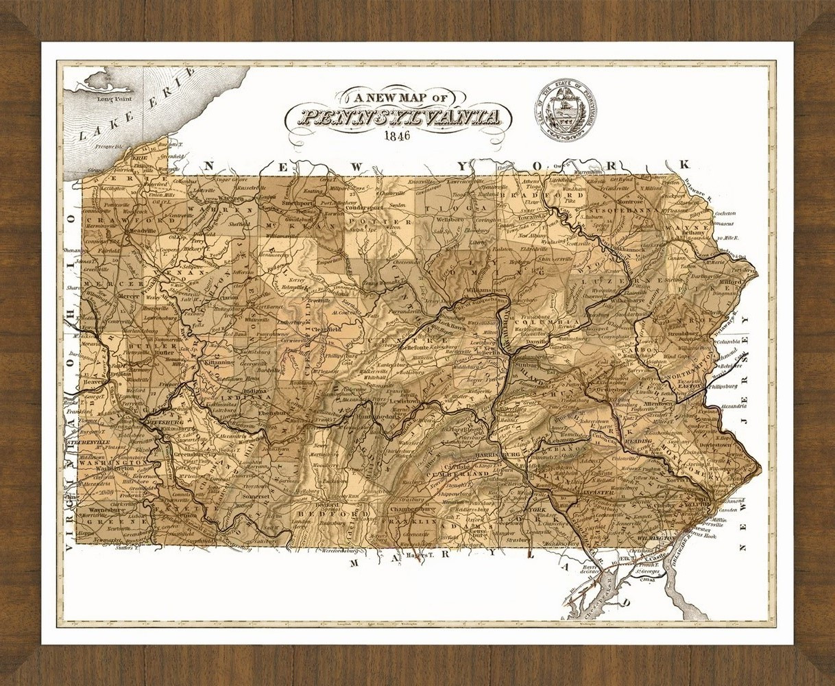 Old Map of Pennsylvania