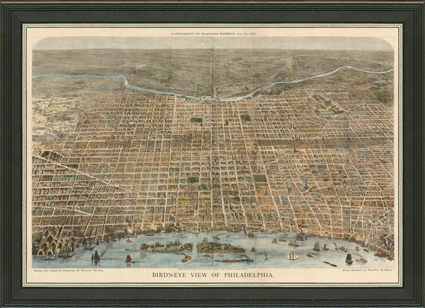 Old Map of Philadelphia